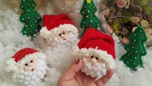 Amigurumi Noel Baba Anahtarlık