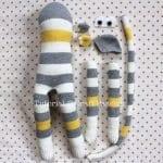 Çoraptan Maymun Yapılışı 19