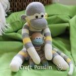Çoraptan Maymun Yapılışı 32
