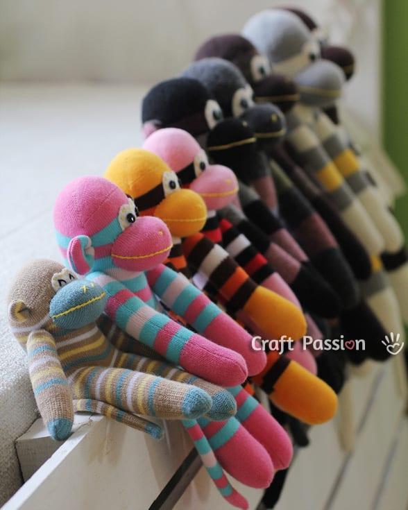 Çoraptan Maymun Yapılışı 33