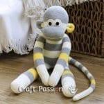 Çoraptan Maymun Yapılışı 34