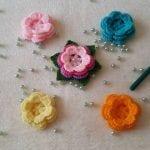 Kolay Örgü Çiçek Yapımı 1