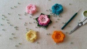 3d Örgü Çiçek Yapımı