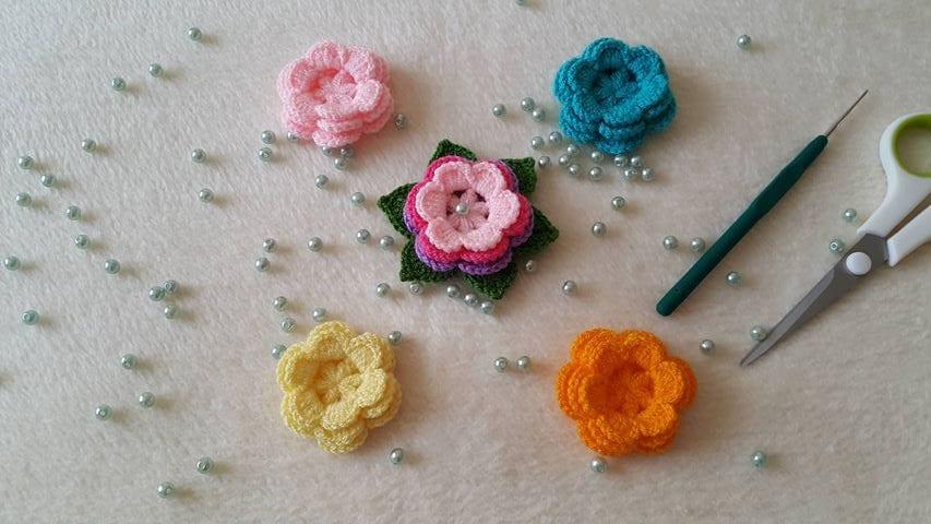 3d örgü çiçek Yapımı Mimuucom