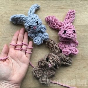 Parmak Örgü Tavşan Yapılışı