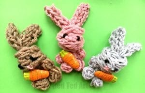 Parmak Örgü Tavşan Yapılışı 2