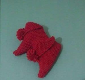 Ponponlu Bebek Patiği Yapımı