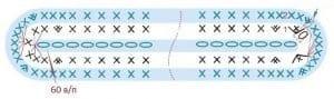 Tığ Tekniği Bargello Çanta Yapılışı 5