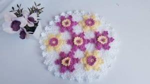 Yıldız Çiçeği Motifli Lif Yapılışı