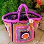 Fridanın Çiçekleri Örgü Çanta Yapılışı 7