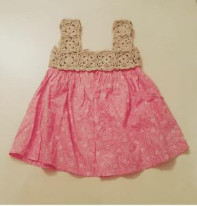 Örgü Kumaş Karışımı Bebek Elbiseleri