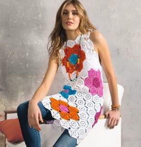 Çiçekli Örgü Elbise