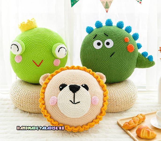 Penye ipten panda yastık yapımı | Bebek, Kanaviçe, Amigurumi ... | 602x687