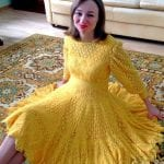 Angora Örgü Elbise Modelleri 118