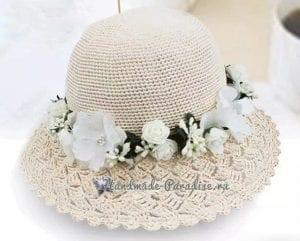 Kenarı Dantelli Örgü Şapka 1