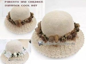 Kenarı Dantelli Örgü Şapka