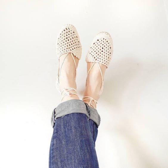 Örgü Ayakkabı Modelleri 111