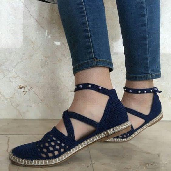 Örgü Ayakkabı Modelleri 11