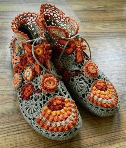 Örgü Ayakkabı Modelleri 19