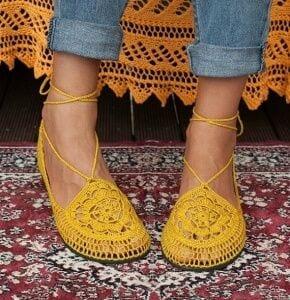 Örgü Ayakkabı Modelleri 35