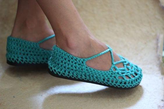 Örgü Ayakkabı Modelleri 38