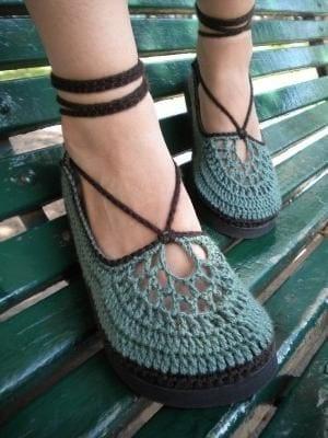 Örgü Ayakkabı Modelleri 3