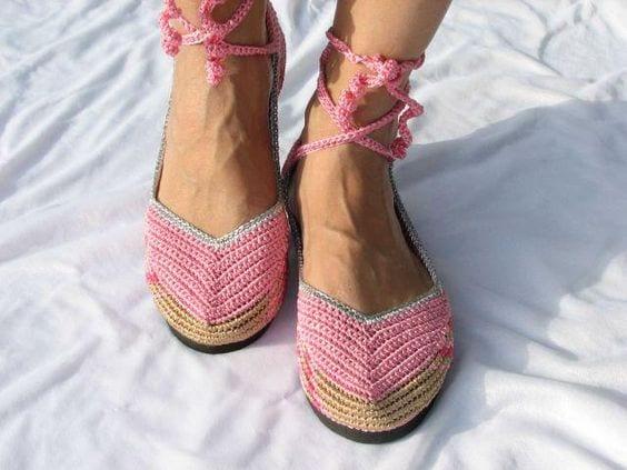 Örgü Ayakkabı Modelleri 44