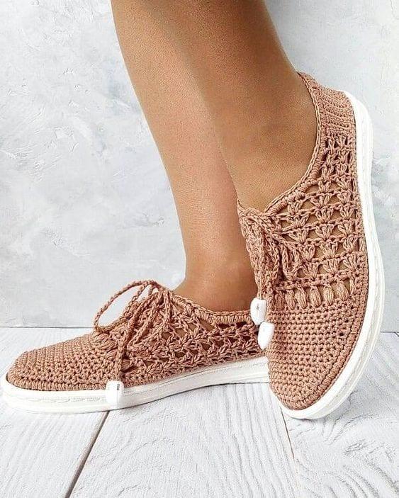 Örgü Ayakkabı Modelleri 60
