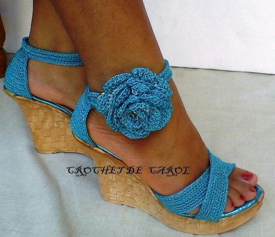 Örgü Ayakkabı Modelleri 70