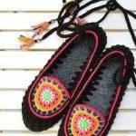 Örgü Ayakkabı Modelleri 76