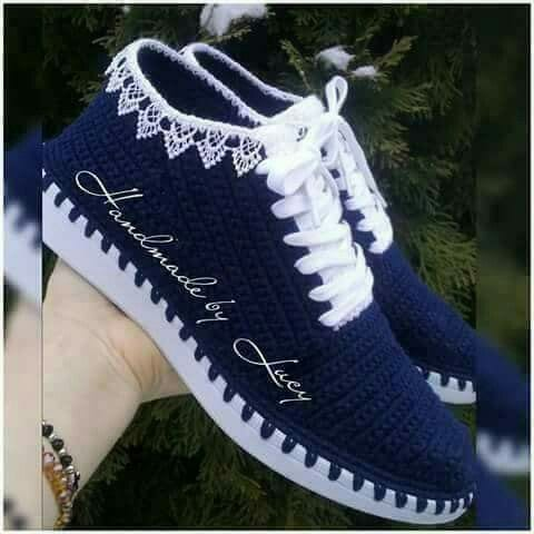 Örgü Ayakkabı Modelleri 80
