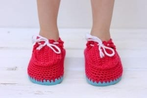 Örgü Çocuk Ayakkabısı Yapılışı 9