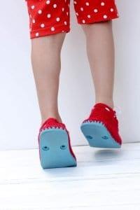 Örgü Çocuk Ayakkabısı Yapılışı 10