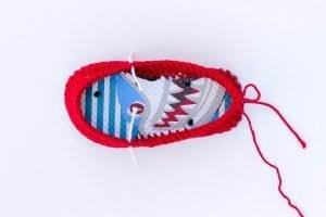Örgü Çocuk Ayakkabısı Yapılışı 5
