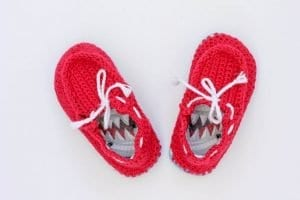 Örgü Çocuk Ayakkabısı Yapılışı