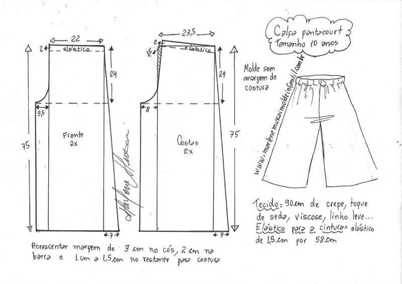 1 - 14 Yaş Bol Pantolon Kalıpları 6