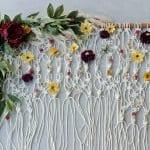 Çiçekli Makrome Kapı Süsü 13