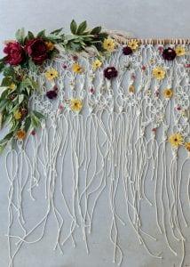 Çiçekli Makrome Kapı Süsü 14
