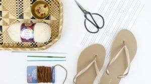Motifli Yazlık Örgü Ayakkabı Yapılışı 10
