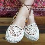 Motifli Yazlık Örgü Ayakkabı Yapılışı 15