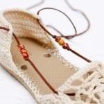 Motifli Yazlık Örgü Ayakkabı Yapılışı 16