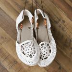 Motifli Yazlık Örgü Ayakkabı Yapılışı 21