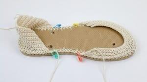 Motifli Yazlık Örgü Ayakkabı Yapılışı 6