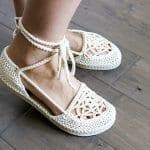 Motifli Yazlık Örgü Ayakkabı Yapılışı 8