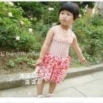 Örgü Kumaş Karışımı Tığ İşi Bebek Elbiseleri 10