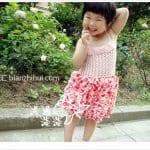 Örgü Kumaş Karışımı Tığ İşi Bebek Elbiseleri 2