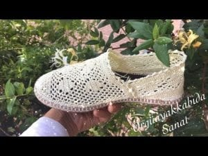 Örgü Dantel Ayakkabı Yapımı