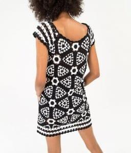Siyah Beyaz Örgü Elbise - Pantolon Modeli 9