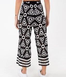 Siyah Beyaz Örgü Elbise - Pantolon Modeli 1