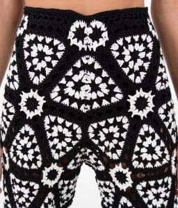 Siyah Beyaz Örgü Elbise - Pantolon Modeli 2